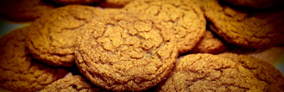 Pop's Ginger Snappy Cookies
